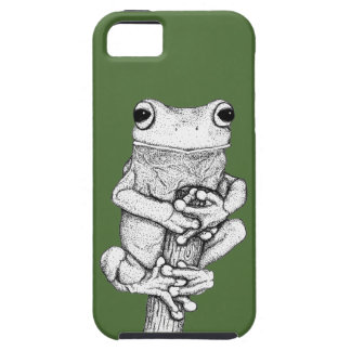 Green Frog on a Case - Art by Skye Ryan-Evans ©