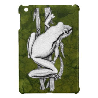 Green Frog on a Case Art by Skye Ryan-Evans © iPad Mini Case