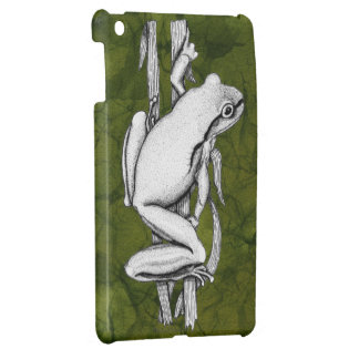 Green Frog on a Case Art by Skye Ryan-Evans © iPad Mini Cases