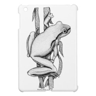 Green Frog on a Case Art by Skye Ryan-Evans © iPad Mini Covers