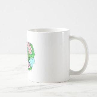 Green Frog On Lilypad Coffee Mugs