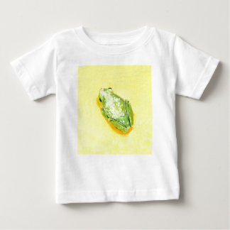 Green frog on yellow background watercolour baby T-Shirt