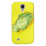 Green frog on yellow background watercolour samsung galaxy s4 cases