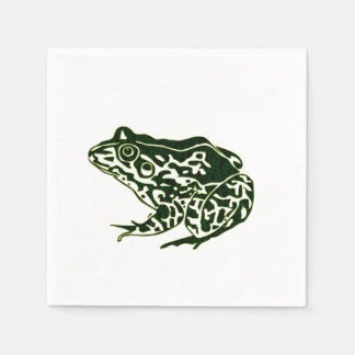 Green Frog Paper Napkin