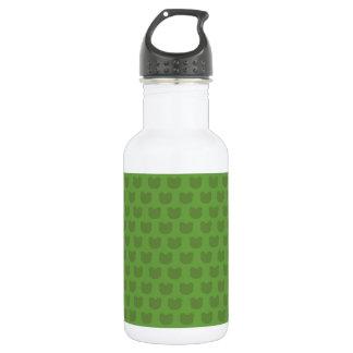 Green Frog Pattern 18oz Water Bottle