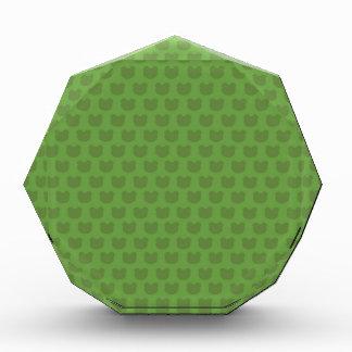 Green Frog Pattern Acrylic Award
