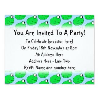 Green Frog Pattern. Card