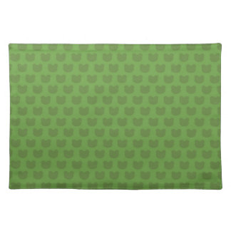 Green Frog Pattern Cloth Place Mat