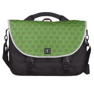 Green Frog Pattern Laptop Computer Bag