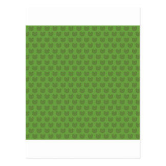 Green Frog Pattern Postcard