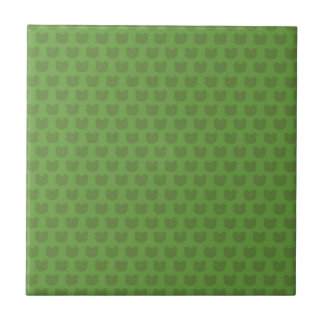 Green Frog Pattern Small Square Tile