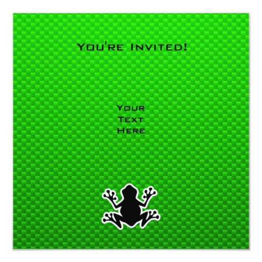 Green Frog Personalized Invitations