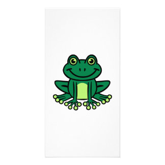 Green frog photo card