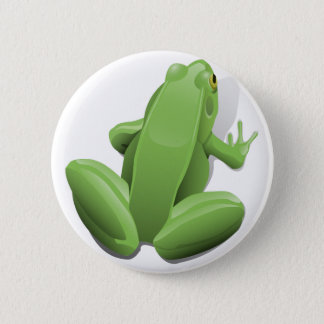 Green Frog Pinback Button