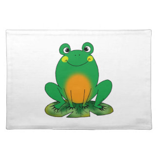 Green frog placemat