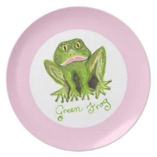 green frog plate