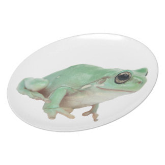 """Green Frog Plate 10"""""""