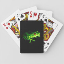 Green Frog Playing Cards