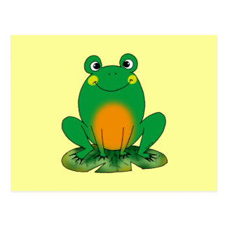 Green frog post cards