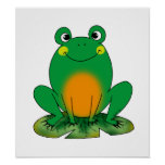 Green frog posters