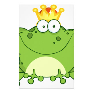 Green Frog Prince Cartoon Character Stationery Paper