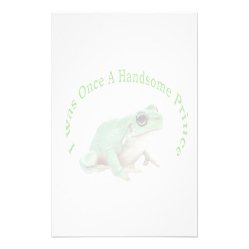 Green Frog Prince stationery