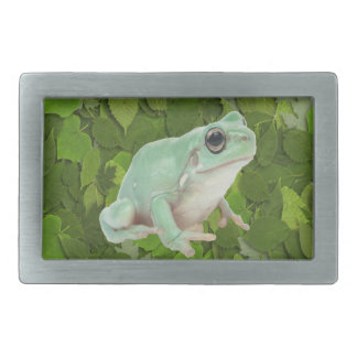Green Frog Rectangular Belt Buckle