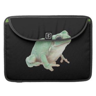 Green Frog Rickshaw Flap Sleeve Sleeve For MacBooks
