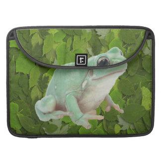 Green Frog Rickshaw Flap Sleeve Sleeves For MacBooks
