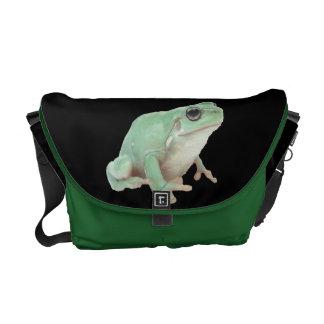 Green Frog Rickshaw Messenger Bag