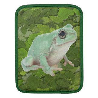 Green Frog Rickshaw Sleeve iPad Sleeves