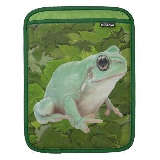Green Frog Rickshaw Sleeve Sleeve For iPads