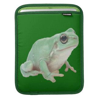 Green Frog Rickshaw Sleeve Sleeves For iPads