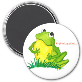 Green Frog Round Magnet