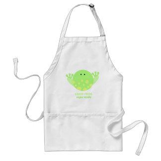 Green Frog Sapo Verde Adult Apron