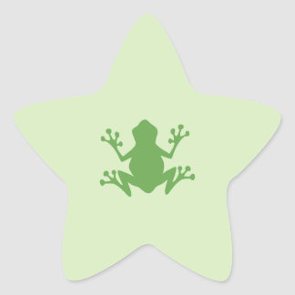 Green Frog Star Sticker
