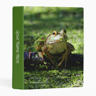 Green Frog Strikes a Pose on the Hose Mini Binder
