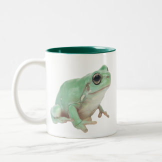 Green Frog Two-Tone Coffee Mug