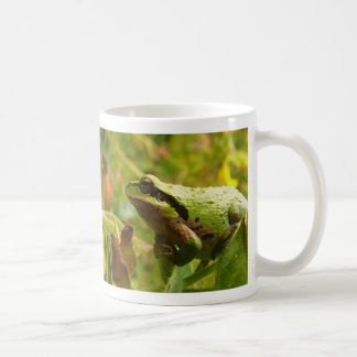 Green Frog Waiting for a Kiss from a Princess Coffee Mug