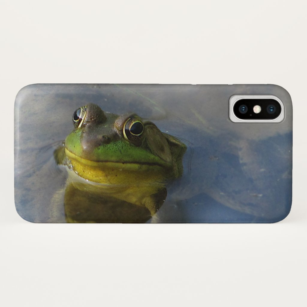 Green Frog with an Attitude iPhone X Case
