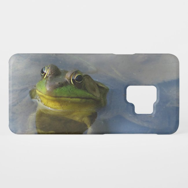Green Frog with Attitude Galaxy S9 Case