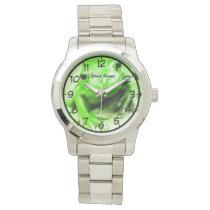 green frog wrist watch