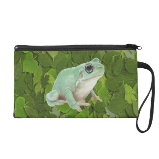 Green Frog Wristlet Clutches