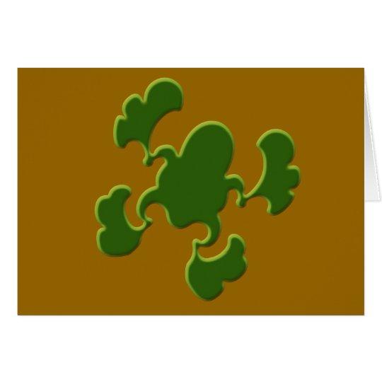 Green Froggy Design Card