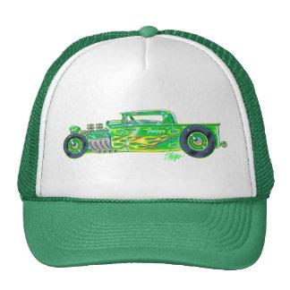 Green Froggy Flame 32 Truck Trucker Hat