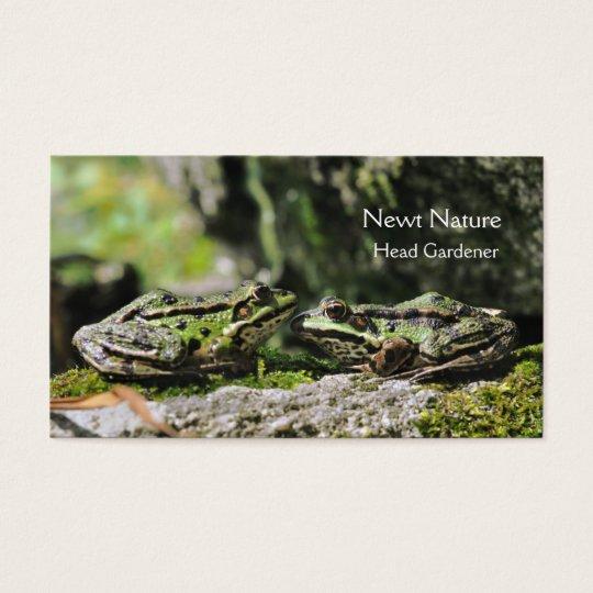 Green frogs garden business card