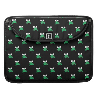 Green Frogs on Black Laptop Computer Sleeve Sleeves For MacBook Pro