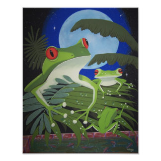 green frogs poster