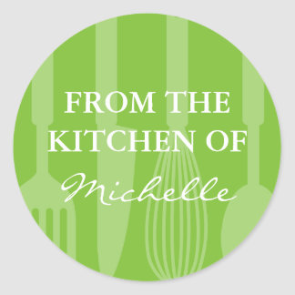Green From the kitchen of cooking utensils sticker