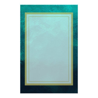 Green Frosted Glass Texture Stationery